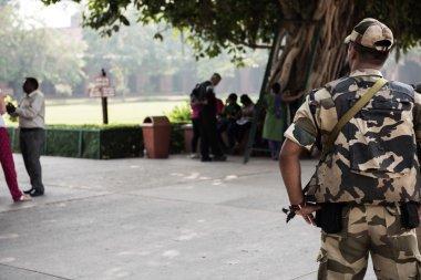 Armed Guard in Taj Mahal