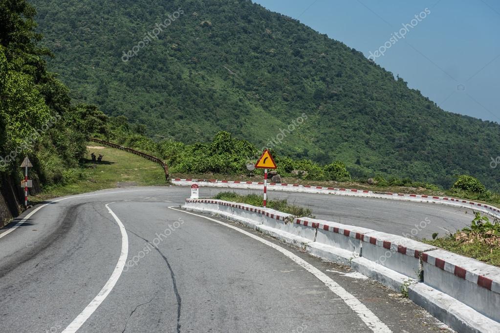 Mountainous Highway in Vietnam