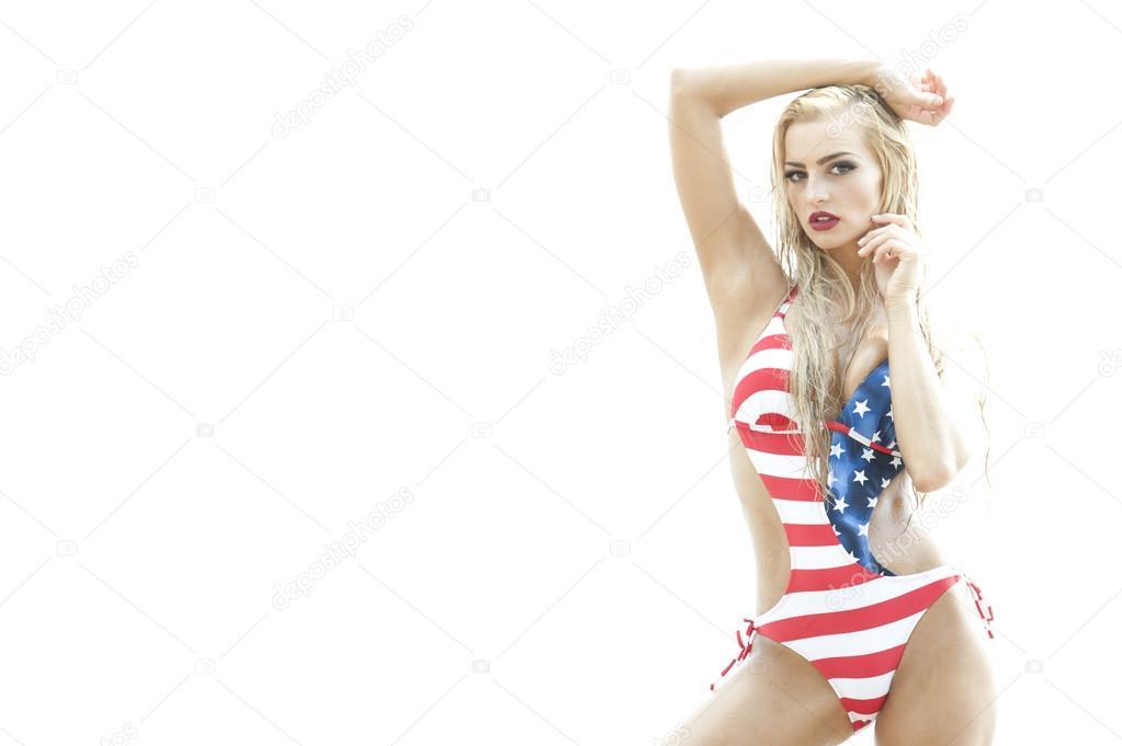 Фото проституток в купльнике американского флага
