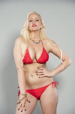 Blond Swimsuit Model