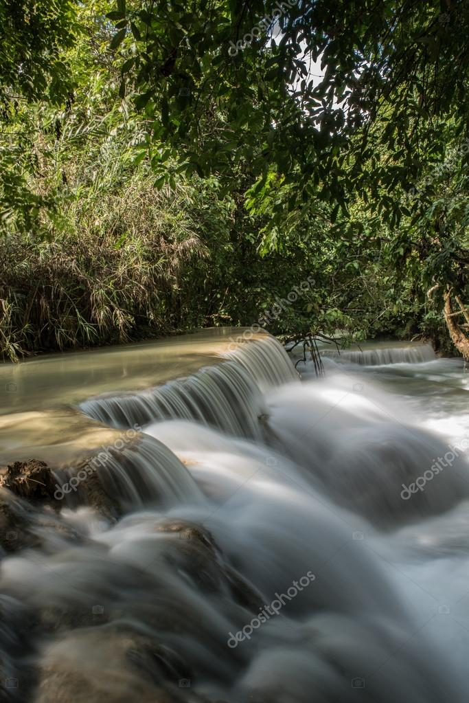 Forest Waterfall in Laos