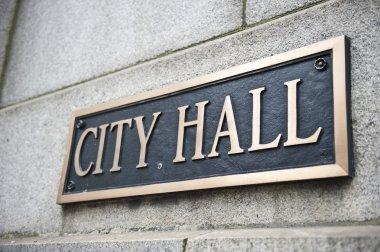 Name Plate on City Hall