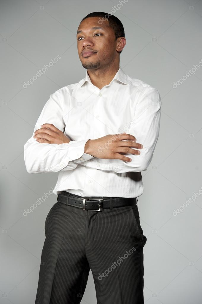 Professional Young African American Male Stock Photo