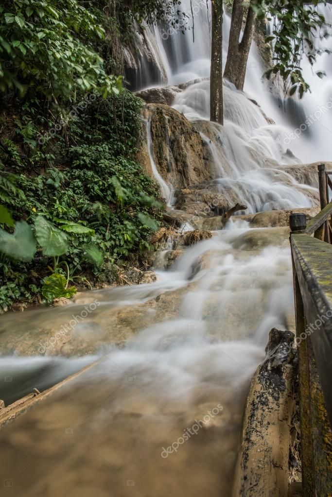 Kouang Xi Falls On Sunny Morning