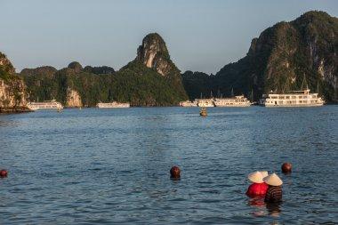 People in Ha Long Bay