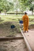Fotografie buddhistischer Mönch beten