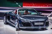 MOSCOW, RUSSIA - AUG 2012: AUDI R8 SPYDER V10 presented as world premiere at the 16th MIAS (Moscow International Automobile Salon) on August 30, 2012 in Moscow, Russia