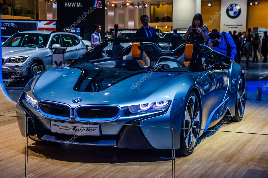 Moscow Russia Aug 2012 Bmw I8 Concept Spyder Presented As World