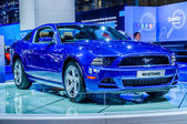 MOSCOW, RUSSIA - AUG 2012: FORD MUSTANG 5TH GENERATION presented as world premiere at the 16th MIAS Moscow International Automobile Salon on August 30, 2012 in Moscow, Russia