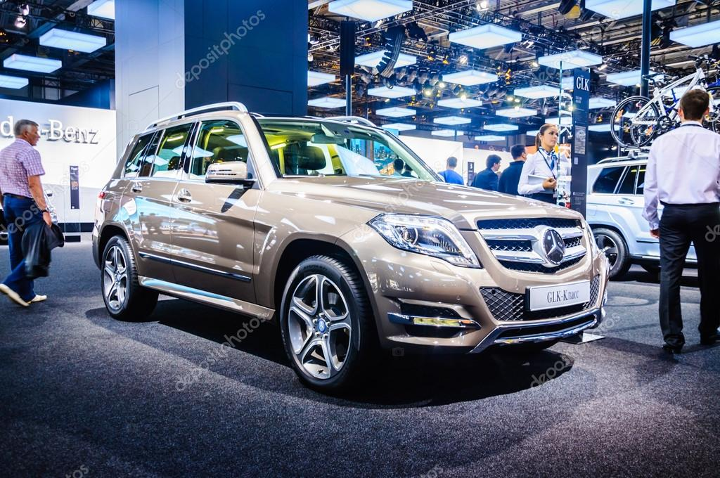 MOSCOW, RUSSIA - AUG 2012: MERCEDES-BENZ GLK-CLASS X204 presented as world premiere at the 16th MIAS Moscow International Automobile Salon on August 30, 2012 in Moscow, Russia