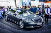 MOSCOW, RUSSIA - AUG 2012: MERCEDES-BENZ S-CLASS W221 presented as world premiere at the 16th MIAS Moscow International Automobile Salon on August 30, 2012 in Moscow, Russia