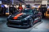 MOSCOW, RUSSIA - AUG 2012: NISSAN GT-R R35 SAFETY CAR presented