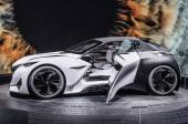 FRANKFURT - SEPT 2015: Peugeot Fractal Concept presented at IAA