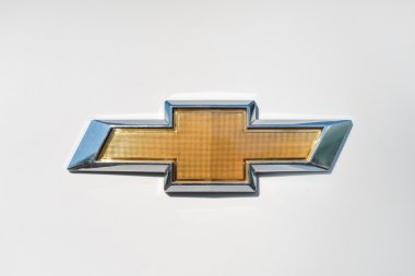 Osinniki  june 28 2015 : Close up of Chevrolet logo on Cruz car on June 28, 2015 in Osinniki, Russia