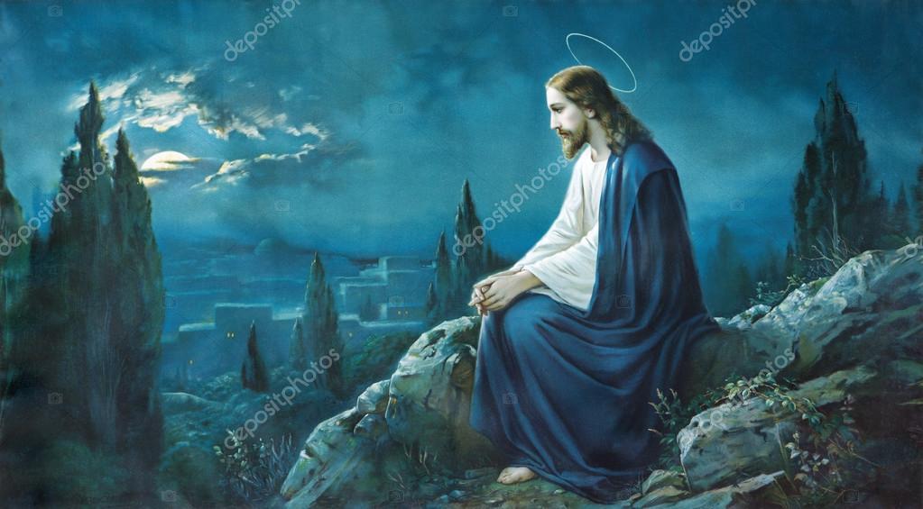 Roznava Slowakei 21 Juli 2014 Das Gebet Jesu Im Garten