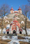 Fotografie Banské Štiavnice - střední a vyšší církevní barokní křížová cesta postavená v letech 1744-1751 v zimě