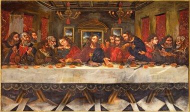 GRANADA, SPAIN - MAY 29, 2015: The Last supper painting by Juan de Sevilla Romero (1643 - 1695) in refectory of church Monasterio de San Jeronimo.