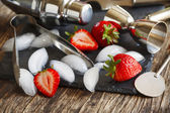 Fotografie Glas Tasse Strawberry Daiquiri
