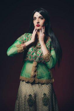 Traditional vintage Bollywood fashion woman