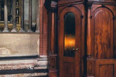 Confessional in a Catholic church