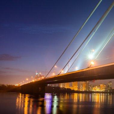 Moscow bridge in Kiev at night