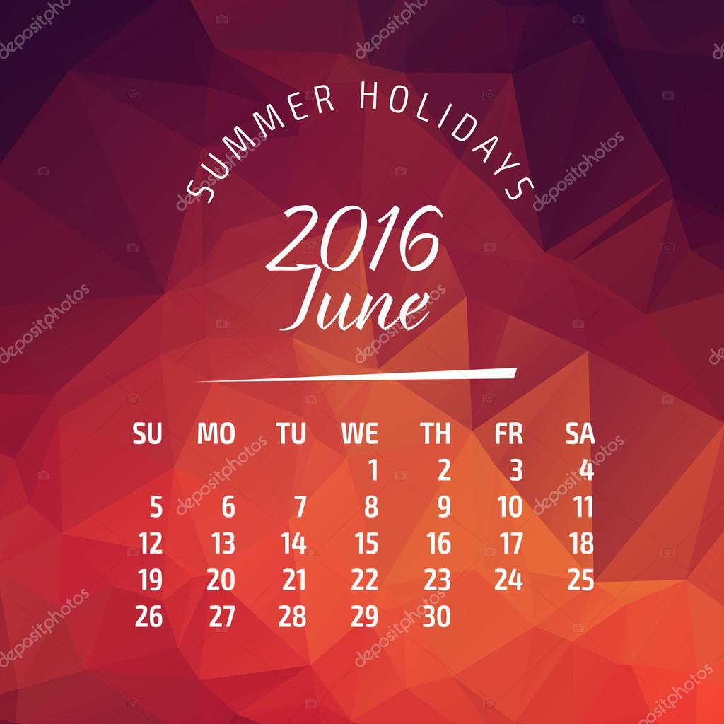 2016 year calendar for business wall calendar and business card on ...