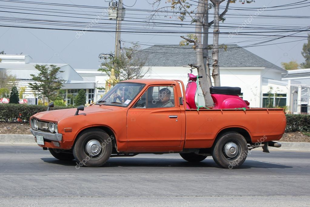 Private old Pickup car, Nissan or Datsan 1500. – Stock Editorial ...