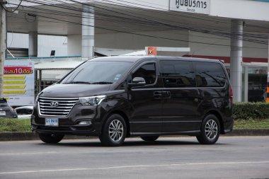 Chiangmai, Thailand -   October 29 2020: Private Luxury Van from Hyundai Korea. Hyundai H1. On road no.1001, 8 km from Chiangmai city.