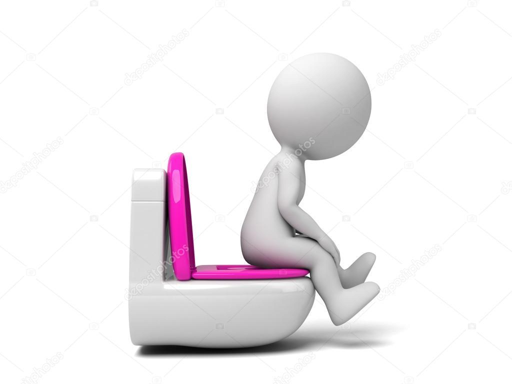 Frauen pinkeln in Toilette Bilder
