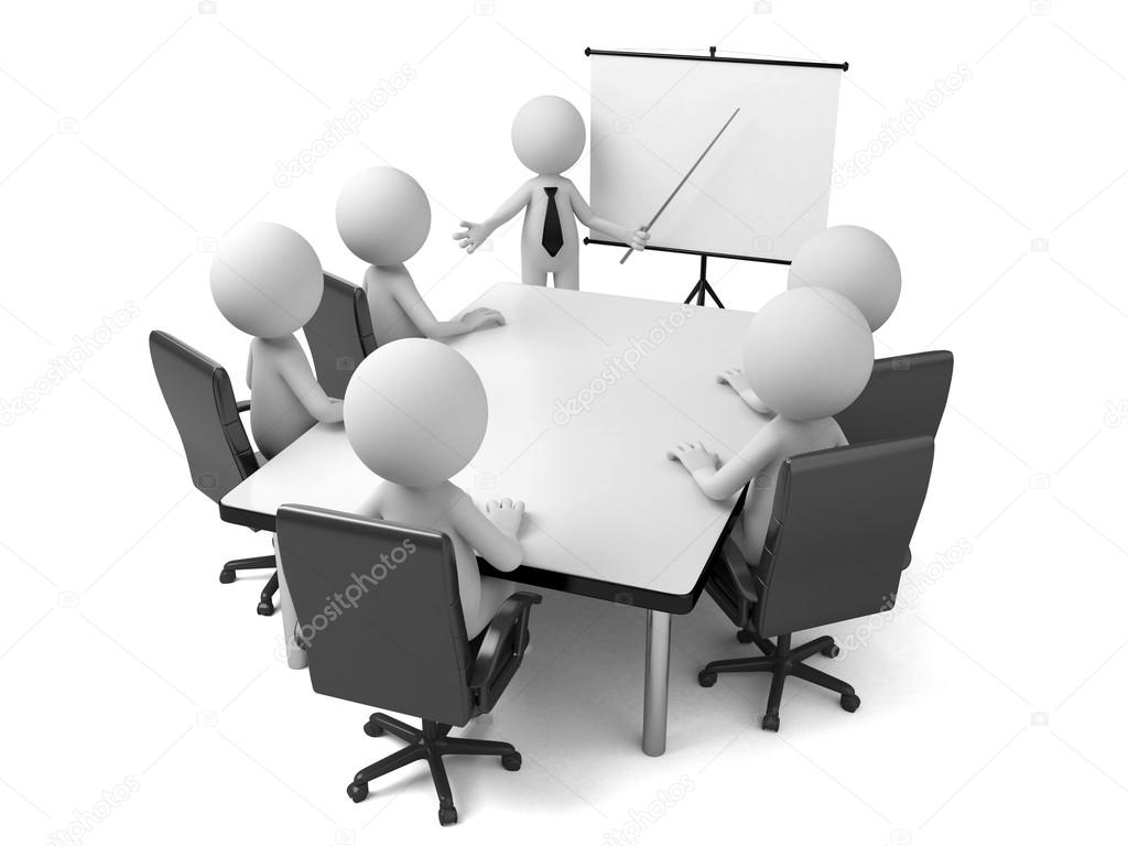 3d People Meeting Stock Photo 169 Bluecups 93309450
