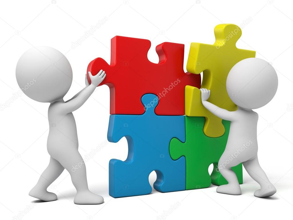 3D People Jigsaw Puzzle Stock Photo C Bluecups 94332784