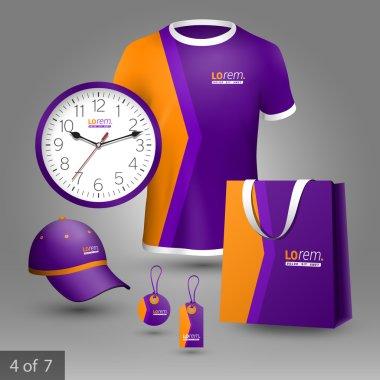 Corporate identity. Editable corporate identity template. Promotional elements design