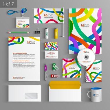 Corporate identity. Editable corporate identity template. Stationery template design