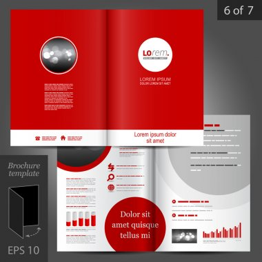 Corporate identity. Editable corporate identity template. Brochure Template Design
