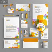 Fotografie Corporate identity. Editable corporate identity template. Stationery template design