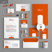 Photo Corporate identity. Editable corporate identity template. Stationery template design