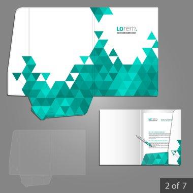 Corporate identity. Editable corporate identity template. Folder template design