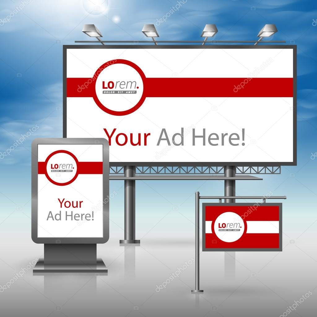 Corporate identity. Billboard, sign, light box