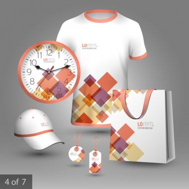 Corporate identity template and promotional gifts