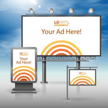 Corporate identity. Billboard, sign, light box