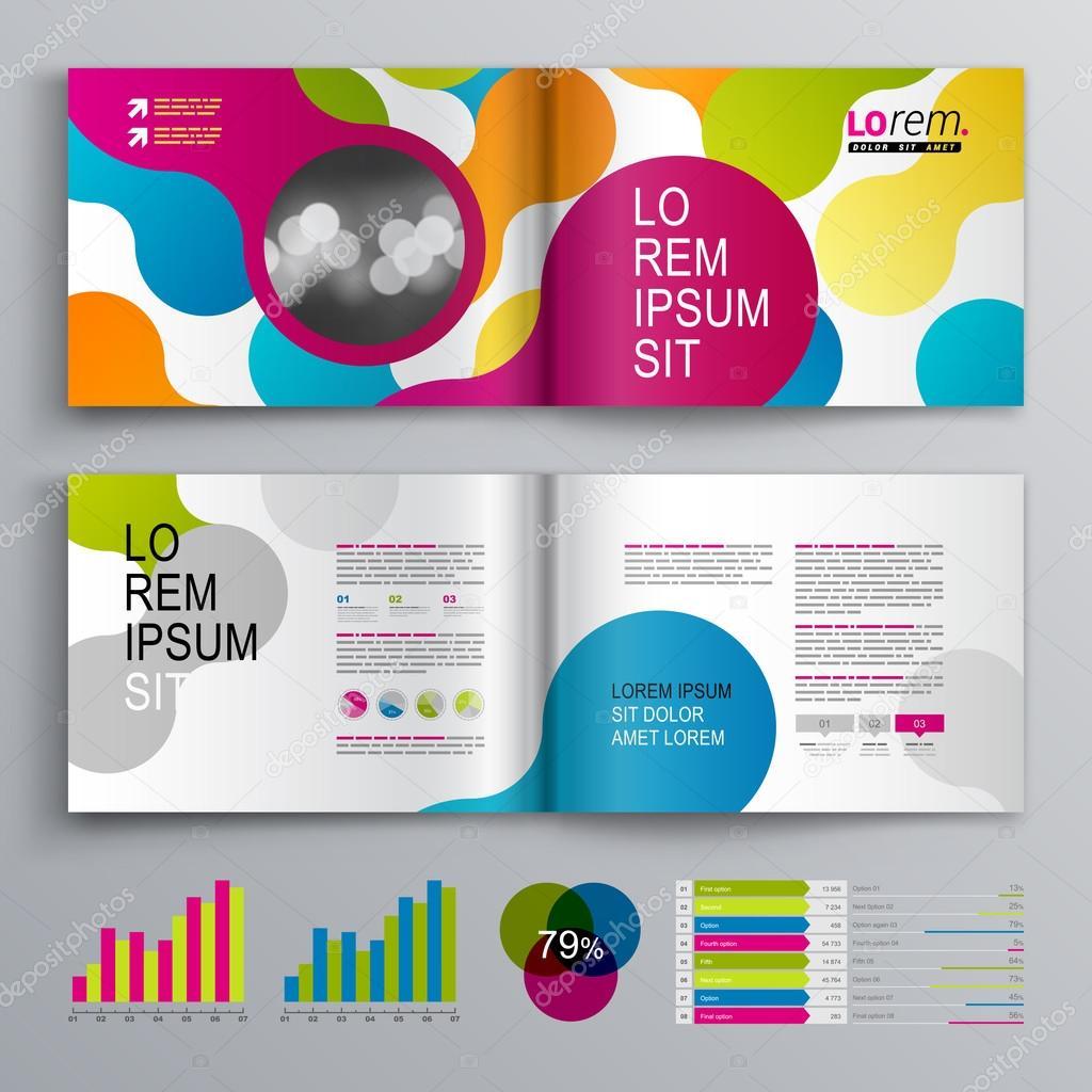 diseño de plantilla folleto — Archivo Imágenes Vectoriales ...