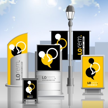 Outdoor advertising design