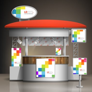 Exhibition stand template
