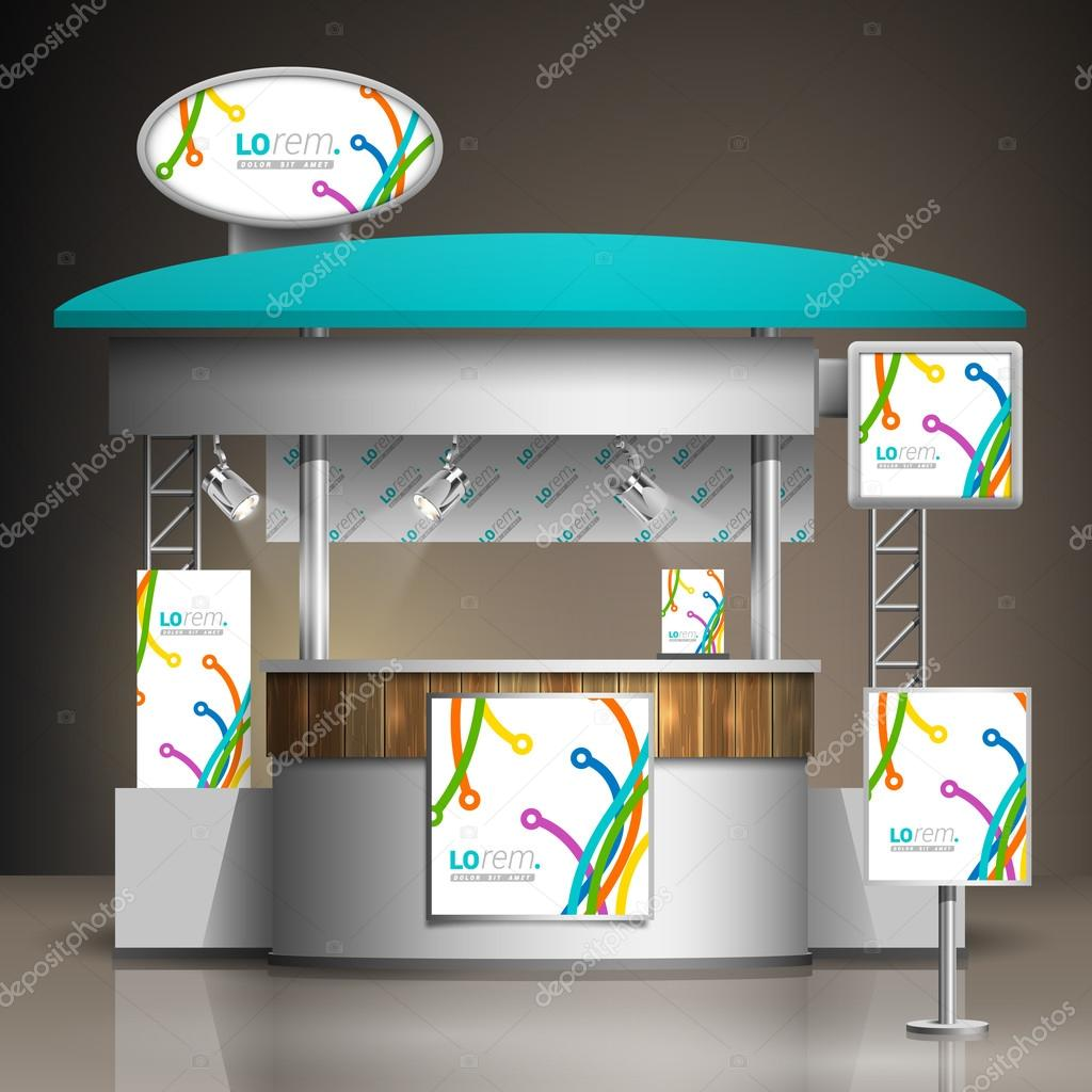 D Exhibition Stand Free Download : Exhibition stand template u2014 stock vector © kenterville #89118602