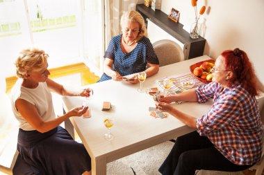 Senior women, at home