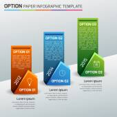 jedna, dva, tři - možnost business infographic, světlé pozadí