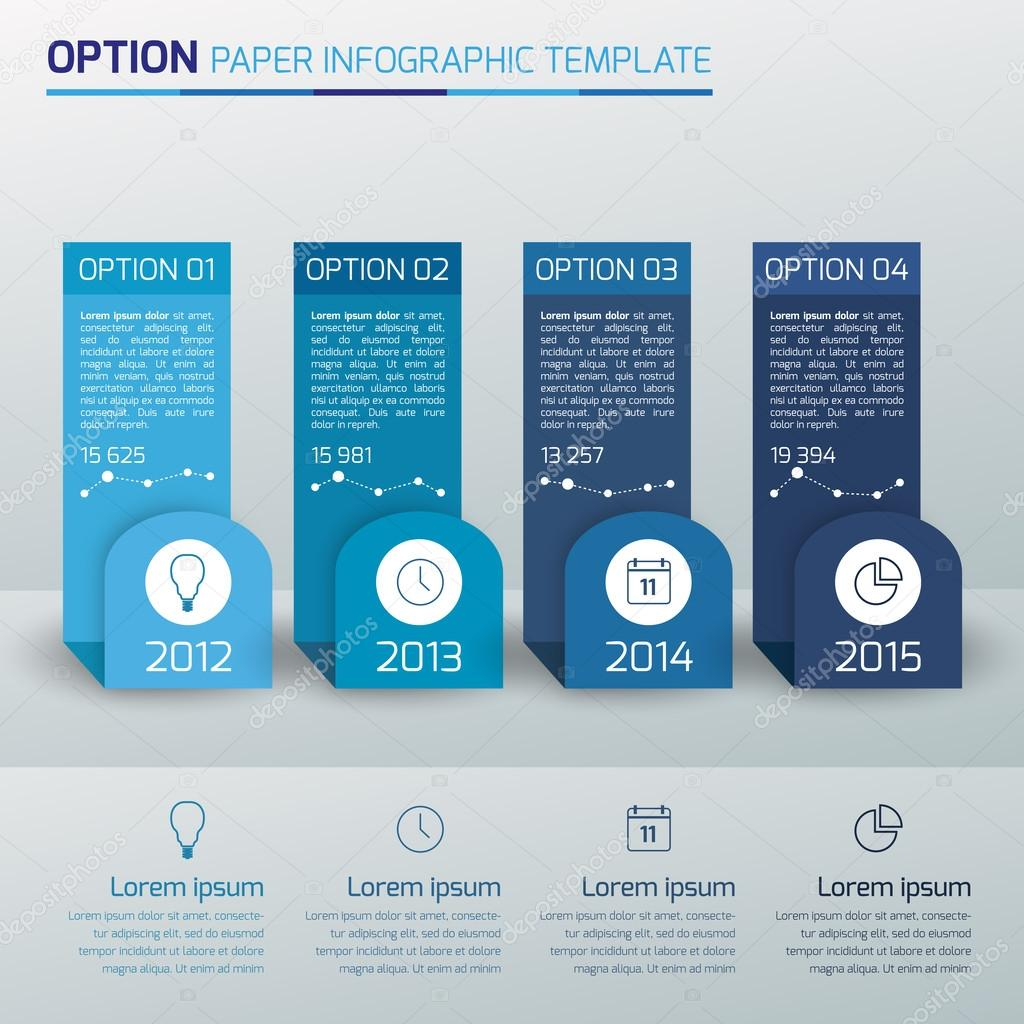 One,two,three,four - option business infographic,light,blue