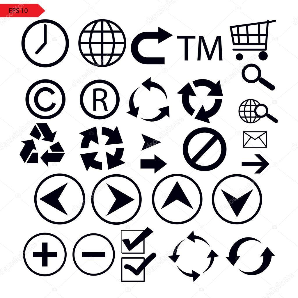 Set of vector arrows icon