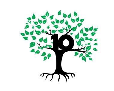 10 Years Anniversary Tree Logo