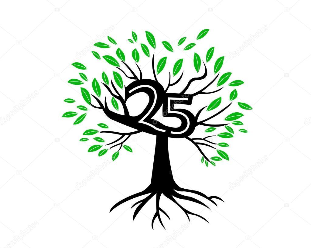 25 Years Anniversary Tree Logo